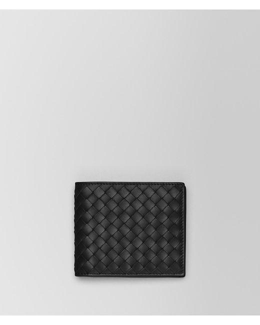 Bottega Veneta - Black Wallet In Nero Intrecciato Vn for Men - Lyst