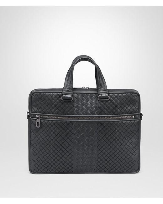 edc99e6aefdf Bottega Veneta - Black Ardoise Intrecciato Aurelio Calf Briefcase for Men -  Lyst ...