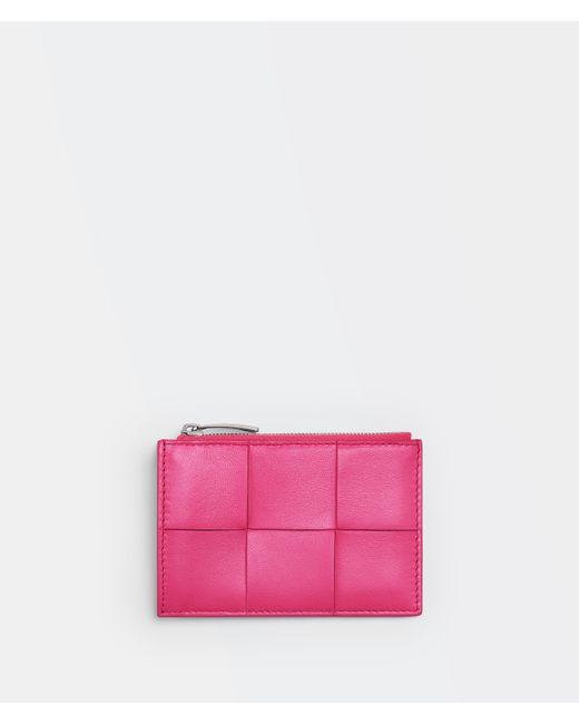 Bottega Veneta Zipped Card Case Pink
