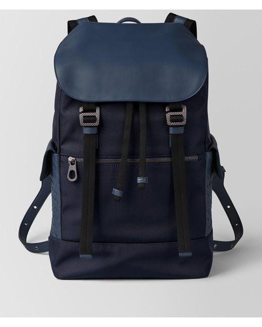 Bottega Veneta - Blue Tourmaline/pacific Hi-tech Canvas Sassolungo Backpack for Men - Lyst