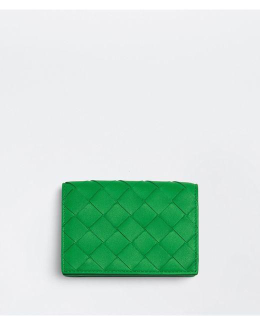 Bottega Veneta Business Card Case Green