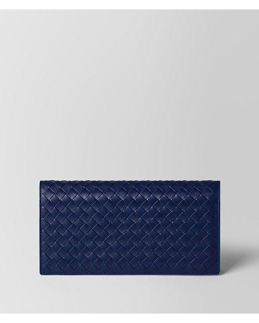Bottega Veneta - Blue Atlantic Intrecciato Vn/aqua Nappa Continental Wallet - Lyst