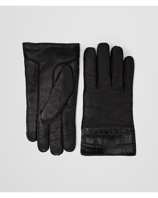 Bottega Veneta - Black HANDSCHUHE AUS KROKODILLEDER UND NAPPA for Men - Lyst