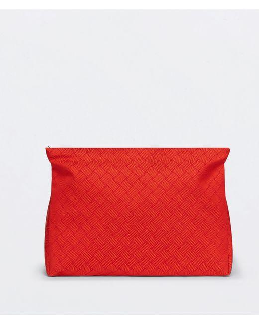 メンズ Bottega Veneta ラージ トイレタリーケース Red