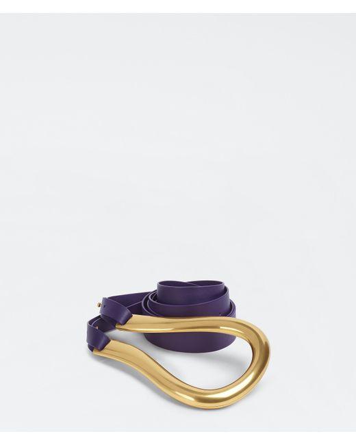 Bottega Veneta Blue Horsebit Gürtel
