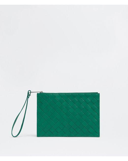 メンズ Bottega Veneta ミディアム ポーチ Green