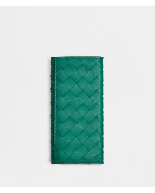 PORTAFOGLIO CONTINENTAL di Bottega Veneta in Green da Uomo
