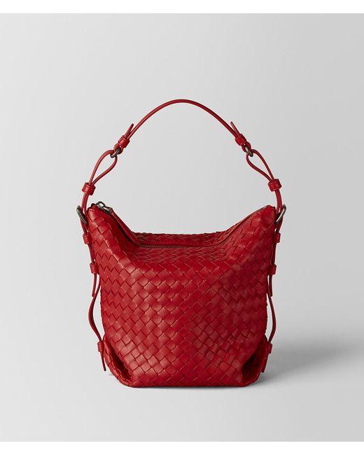 Bottega Veneta - China Red Intrecciato Nappa Osaka Bag - Lyst