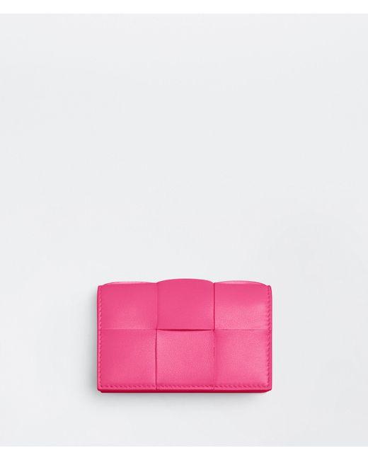 Bottega Veneta Pink Business Card Case