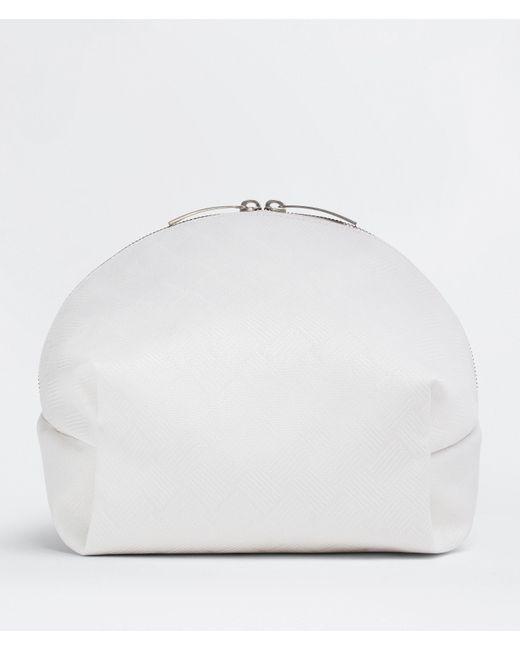 Bottega Veneta White Medium Beauty Case