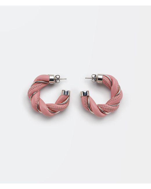 BOUCLE D'OREILLE Bottega Veneta en coloris Pink