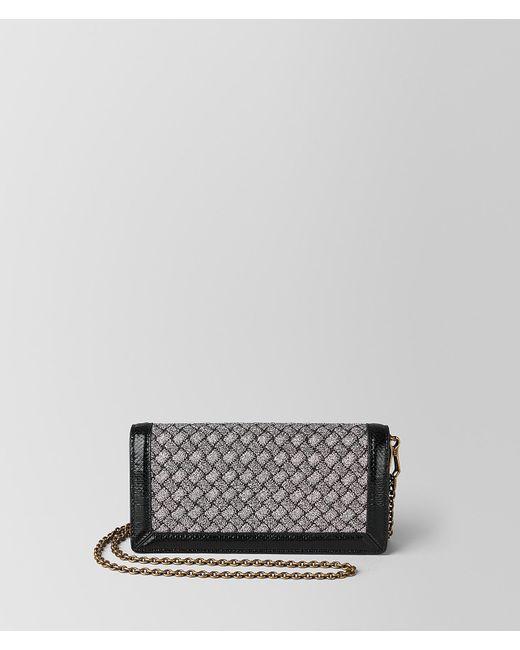 faf9cae78a86 Bottega Veneta - Metallic Antique Silver Intrecciato Knitted Chain Wallet -  Lyst ...