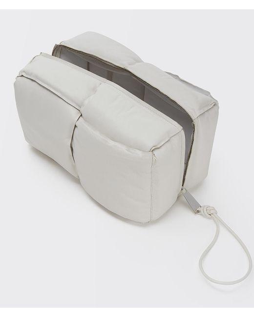 メンズ Bottega Veneta ホワイト イントレチャート パッド ポーチ White