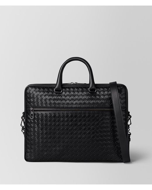 Bottega Veneta - Black Nero Intrecciato Vn Small Briefcase for Men - Lyst