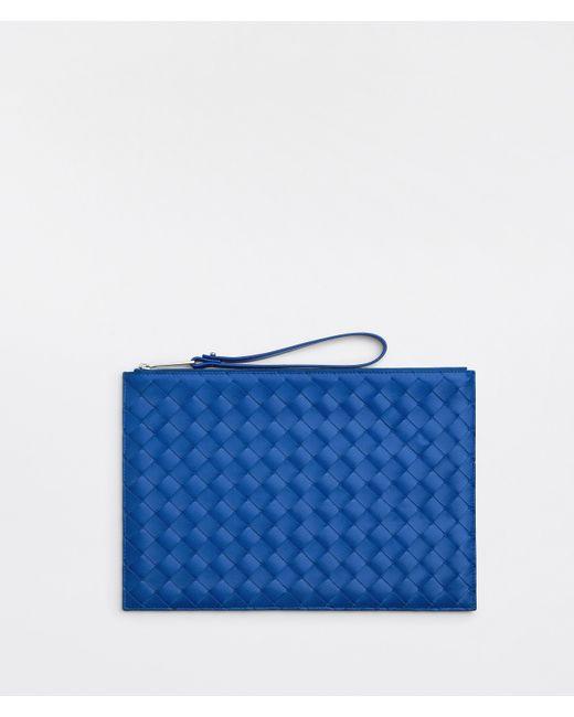 メンズ Bottega Veneta ラージ ポーチ Blue