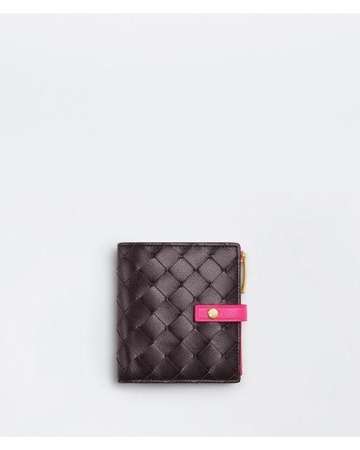 Bottega Veneta Bi-fold Zip Wallet Multicolor