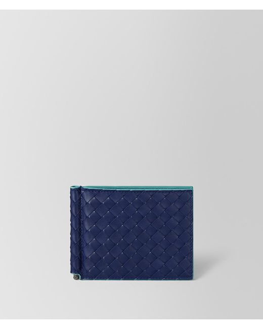 Bottega Veneta - Blue Atlantic Intrecciato Vn/aqua Nappa Wallet for Men - Lyst