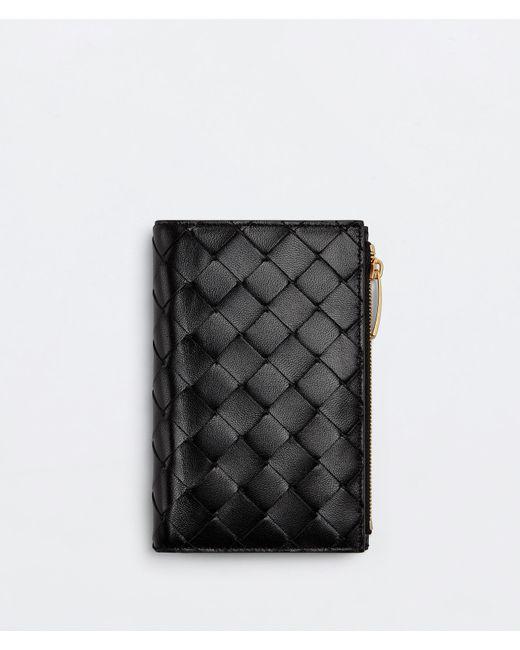 Bottega Veneta Bi-fold Zip Wallet Black