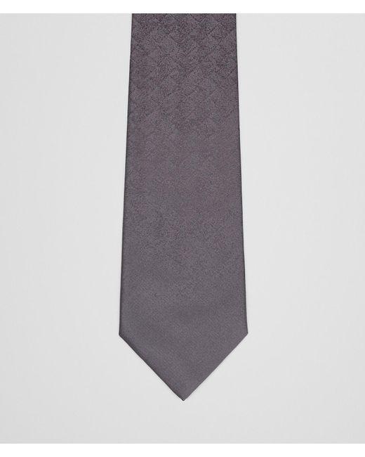 Bottega Veneta - Gray Nero Argento Bv Silk Tie for Men - Lyst