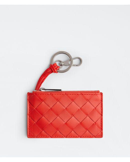 メンズ Bottega Veneta Key Pouch Red