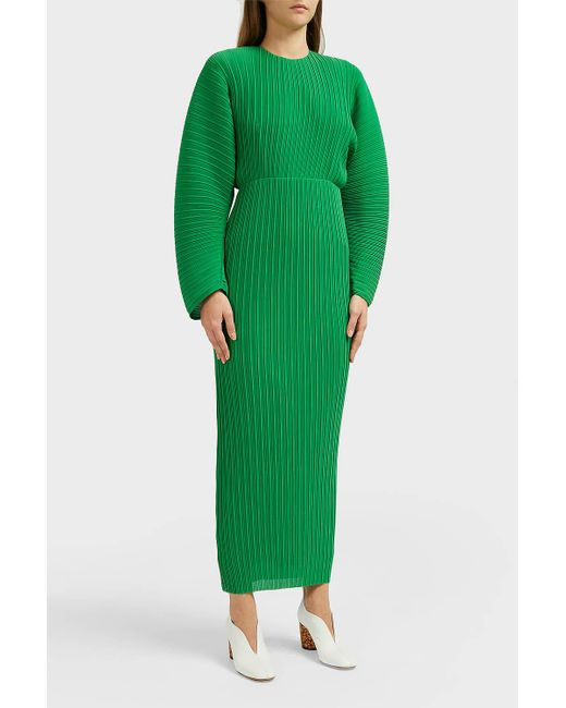 Plissé Mirabelle Batwing Dress Solace In Maxi Lyst Green London oeExWQCrBd