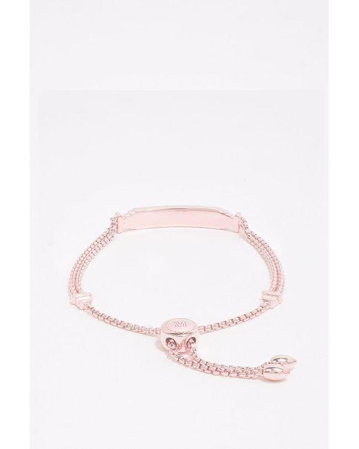 Monica Vinader   Pink Baja Deco Id Bracelet   Lyst