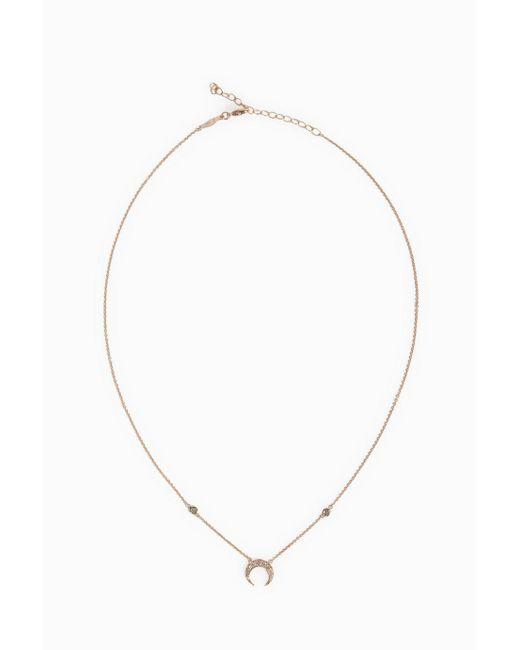 Jacquie Aiche | Metallic Pavé Mini Crescent Necklace | Lyst