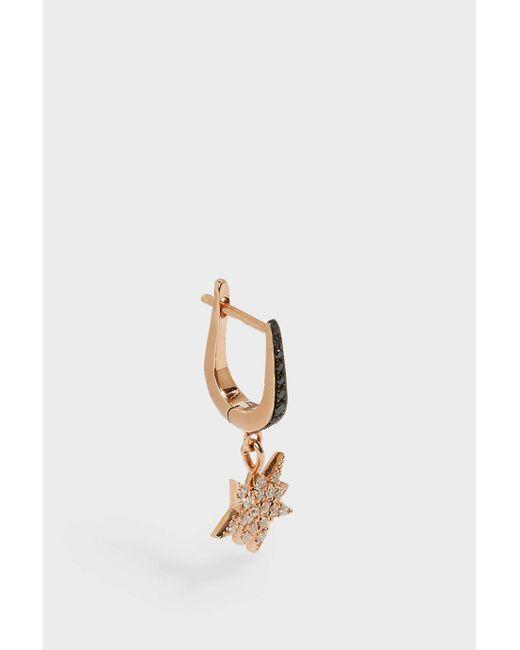 Diane Kordas | Metallic Rose Gold & Diamond Explosion Earring | Lyst