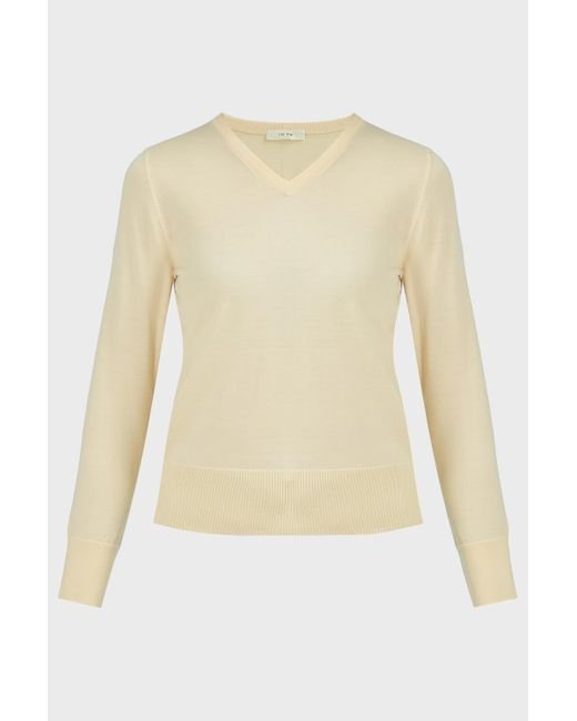 The Row Natural Adisa Wool-cashmere Jumper