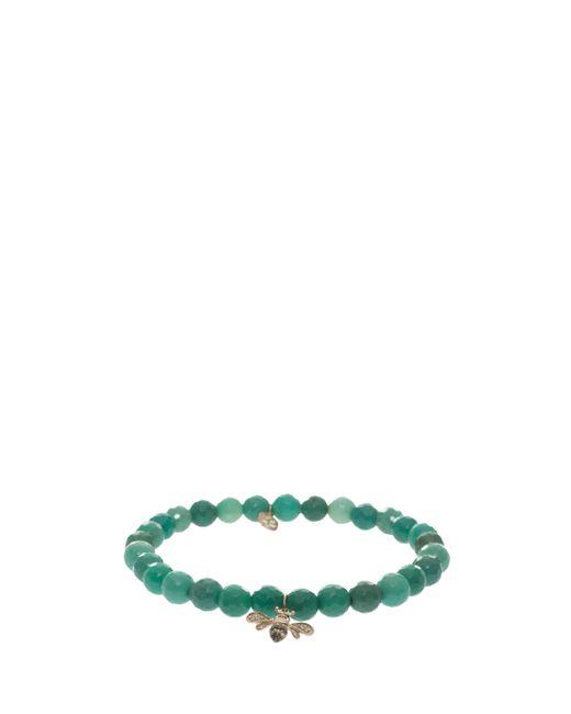 Sydney Evan | Green Bee Charm Bracelet | Lyst