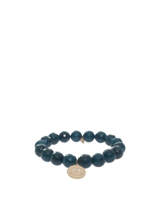 Sydney Evan | Blue Smiley Charm Bracelet | Lyst