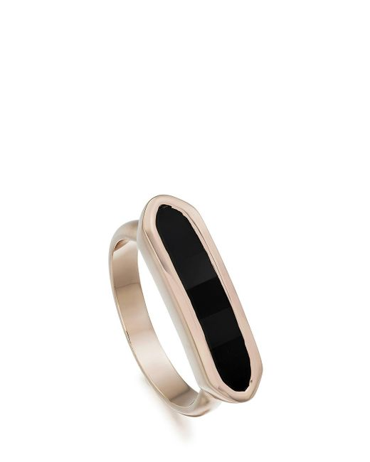 Monica Vinader | Black Baja Ring | Lyst