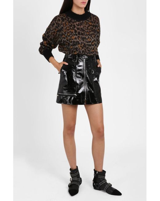 Isabel marant Patent Leather Skirt in Black - Save 1% | Lyst