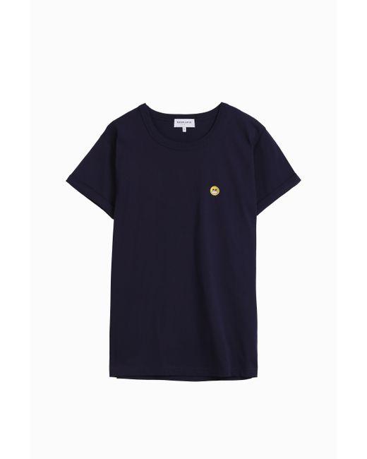 Maison labiche smile emoji t shirt in blue for men lyst for Maison smile