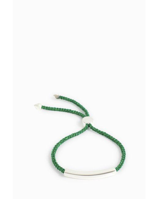 Monica Vinader   Green Linear Friendship Bracelet   Lyst