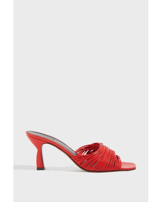 Neous - Red Shom Leather Mules - Lyst