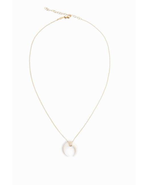 Jacquie Aiche | Metallic Pave Diamond Bone Horn Necklace | Lyst