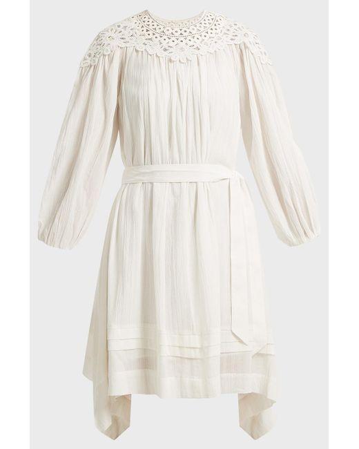Étoile Isabel Marant Multicolor Rita Asymmetric Embroidered Cotton Dress