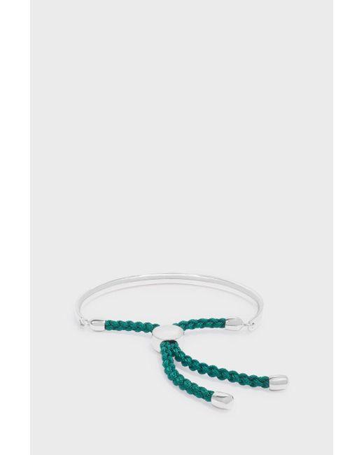 Monica Vinader   Green Fiji Bracelet Silver   Lyst