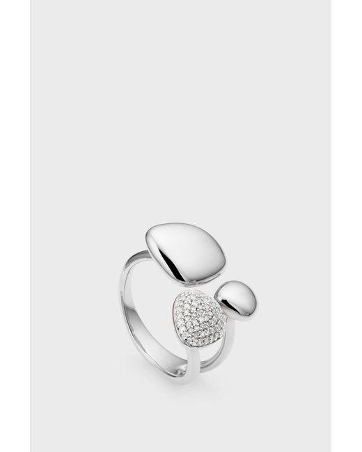 Monica Vinader - Metallic Nura Pebble Cluster Diamond Ring - Lyst