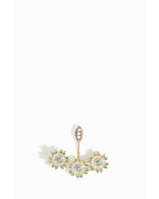 Yvonne Léon | Multicolor Triple Flower Earring | Lyst
