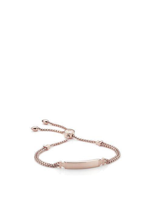 Monica Vinader - Pink Baja Deco Id Bracelet - Lyst
