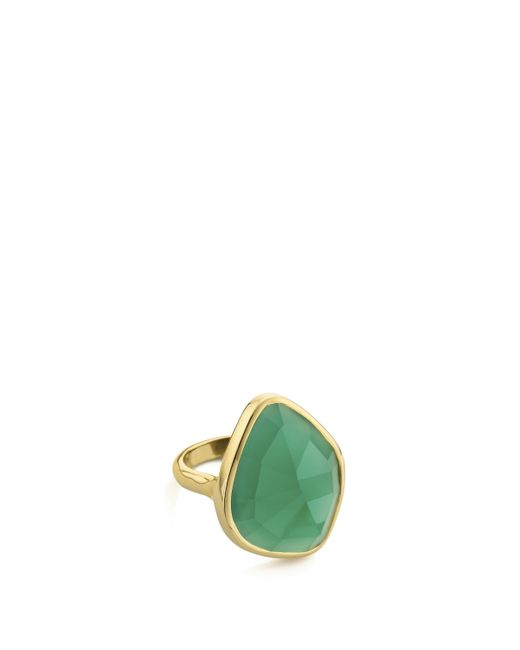 Monica Vinader - Multicolor Rose Gold Vermeil Siren Amazonite Nugget Cocktail Ring - Lyst