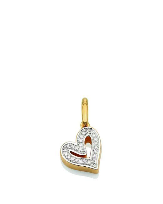 Monica Vinader - Metallic Gold Vermeil Alphabet Heart Pendant, Os - Lyst