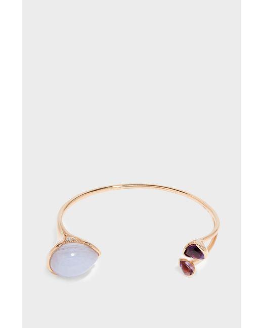 Fernando Jorge - Metallic Petals 18-karat Rose Gold Diamond, Amethyst And Chalcedony Bracelet - Lyst