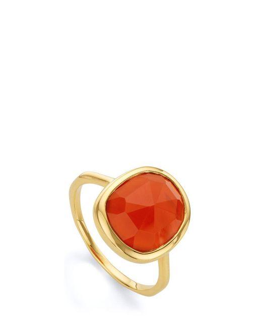 Monica Vinader | Orange Medium Siren Ring | Lyst