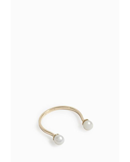 Delfina Delettrez | Multicolor Double Pearl Ring | Lyst