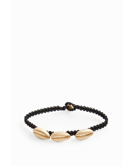 Luis Morais - Metallic Yellow-gold Three-shell Macramé Bracelet, Os - Lyst
