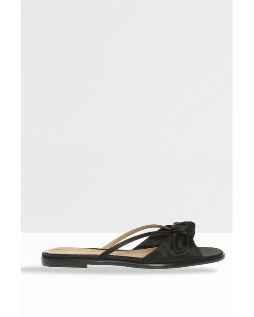 The Row - April Bow Sandals, Size Fr37, Women, Black - Lyst