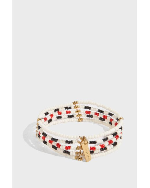 Isabel Marant - Metallic Gold-tone Beaded Bracelet - Lyst